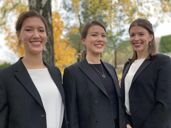 Amelia, Adriana och Antonia Krzymowska. Foto: Peter Johansson.